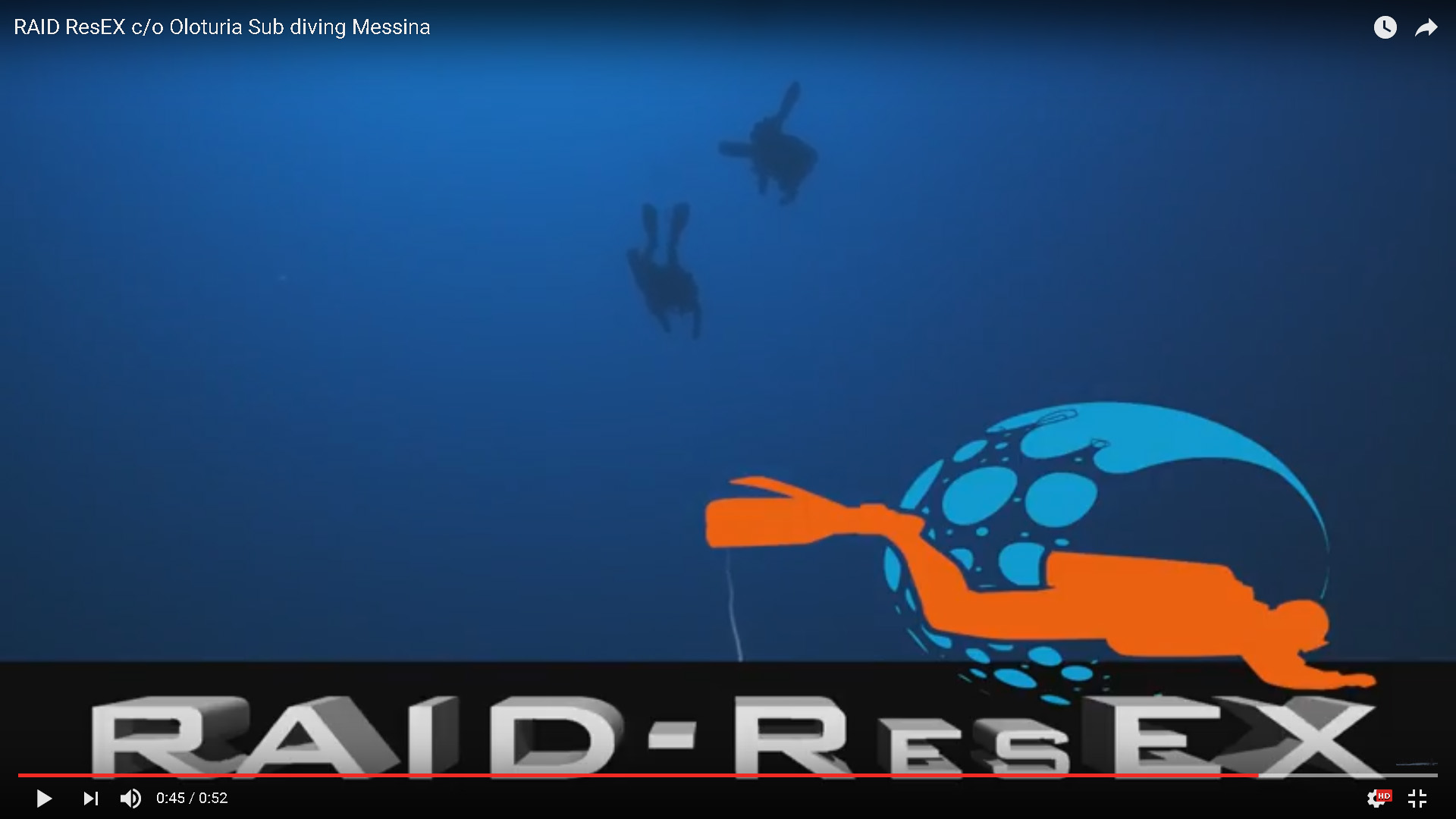RAID ResEX - Oloturia Sub diving Messina